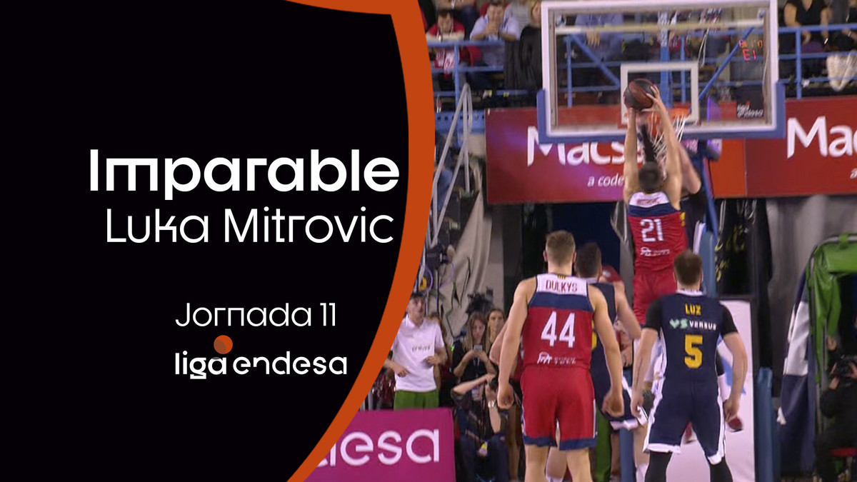 Mitrovic imparable ante la defensa de Radoncic