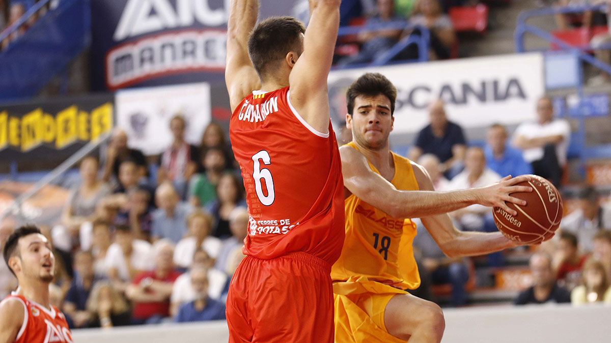 Pol Figueras, en su debut en la Liga Endesa (ACB Photo/J. Alberch)